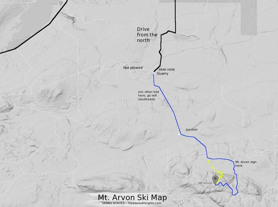 Map Mount Arvon Winter