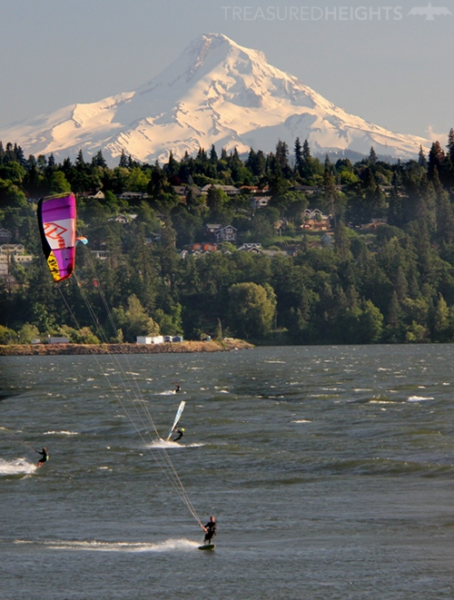 Mount Hood from Columbia River