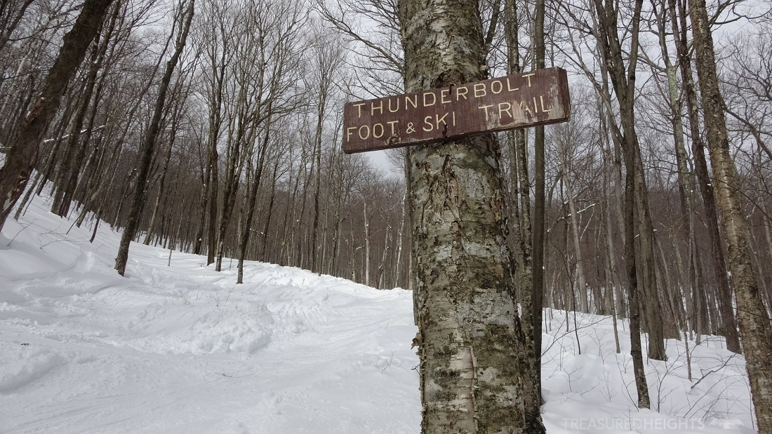 thunderbolt ski trail sign